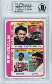 Paul Brown Autographed 1978 Topps Card #505 Cincinnati Bengals Owner Beckett BAS #10982324