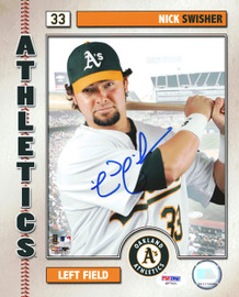 Nick Swisher Autographed 8x10 Photo Oakland A's PSA/DNA #Q97021