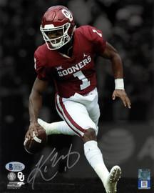 Kyler Murray Autographed 8x10 Photo Oklahoma Sooners Beckett BAS Stock #145743