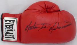 Matthew Saad Muhammad Autographed Red Everlast Boxing Glove Beckett BAS #F87959