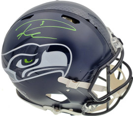 Russell Wilson Autographed Seattle Seahawks Full Size Speed Authentic Helmet In Green RW Holo Stock #145783