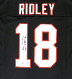 Atlanta Falcons Calvin Ridley Autographed Black Jersey Beckett BAS Stock #146676
