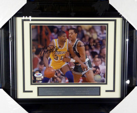 Magic Johnson & Dennis Johnson Autographed Framed 8x10 Photo PSA/DNA #F80513