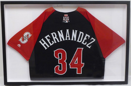 Seattle Mariners Felix Hernandez Autographed Framed Red Majestic 2015 All Star Jersey MCS Holo #22719