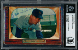 "Dave ""Davey"" Williams Autographed 1955 Bowman Card #138 New York Giants Beckett BAS #11077289"
