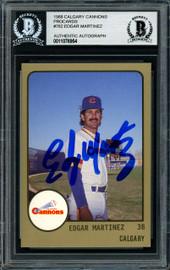 Edgar Martinez Autographed 1988 Procards Rookie Card #782 Seattle Mariners Beckett BAS Stock #147105