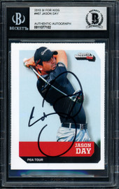 Jason Day Autographed 2015 Sports Illustrated For Kids Rookie Card #467 Beckett BAS #11077102