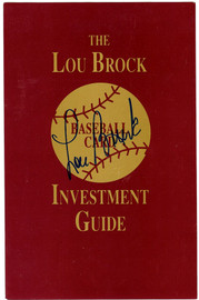Lou Brock Autographed 5.5x8.5 Guide St. Louis Cardinals Stock #106132