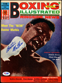 Buster Mathis Autographed Boxing Illustrated Magazine Cover PSA/DNA #S47257