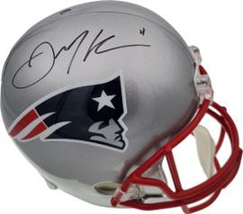 Julian Edelman Autographed New England Patriots Full Size Replica Helmet Beckett BAS Stock #147912