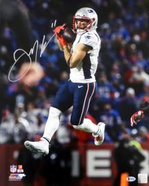 Julian Edelman Autographed 16x20 Photo New England Patriots Beckett BAS Stock #147919