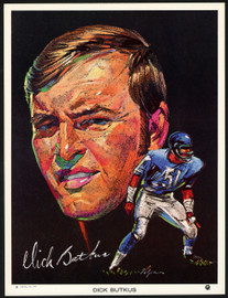 1970 Clark Oil Volpe Card Set (8) Chicago Bears Including Dick Butkus SKU #148053