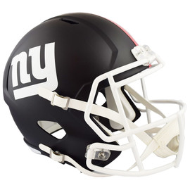 Unsigned New York Giants Flat Matte Black Full Size Speed Replica Helmet Stock #148082