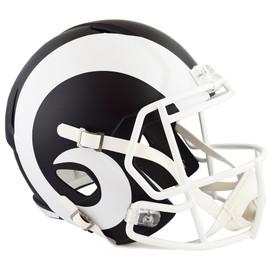 Unsigned Los Angeles Rams Flat Matte Black Full Size Speed Replica Helmet Stock #148083