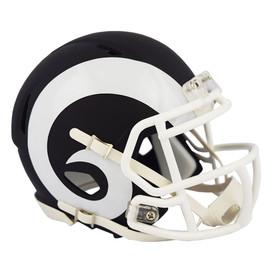 Los Angeles Rams Unsigned Flat Matte Black Speed Mini Helmet Stock #148093