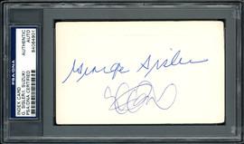 Ichiro Suzuki & George Sisler Autographed 3x5 Index Card PSA/DNA #84064901