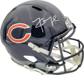 Khalil Mack Autographed Chicago Bears Full Size Speed Replica Helmet In Front Beckett BAS Stock #148238