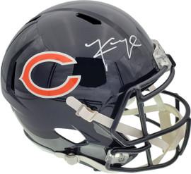 Khalil Mack Autographed Chicago Bears Full Size Speed Replica Helmet In White Beckett BAS Stock #148240