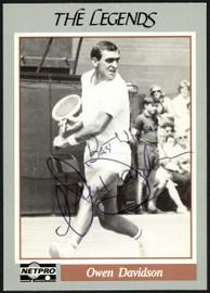 """Owen Davidson Autographed 1991 NetPro The Legends Card #6 """"Best Wishes"""" SKU #148259"""
