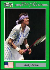 Kathy Jordan Autographed 1991 NetPro Tour Star Card #79 SKU #148269
