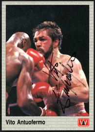 Vito Antuofermo Autographed 1991 All World Card #2 SKU #148274