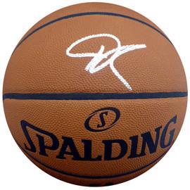 Giannis Antetokounmpo Autographed Official Spalding NBA Leather Basketball Milwaukee Bucks Beckett BAS Stock #148316