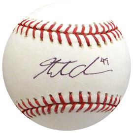 Garrett Olson Autographed Official MLB Baseball Baltimore Orioles, New York Mets Beckett BAS #H10228