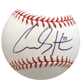 Carson Smith Autographed Official MLB Baseball Boston Red Sox, Seattle Mariners Beckett BAS #H10393
