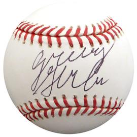 Greg Halman Autographed Official MLB Baseball Seattle Mariners Beckett BAS #H10651