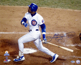 Sammy Sosa Autographed 16x20 Photo Chicago Cubs Beckett BAS Stock #148617