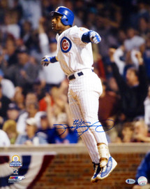 Sammy Sosa Autographed 16x20 Photo Chicago Cubs Beckett BAS Stock #148618