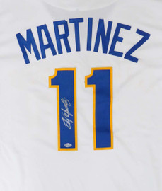 Seattle Mariners Edgar Martinez Autographed White Majestic Cool Base Cooperstown Throwback Jersey Size XL MCS Holo Stock #149520