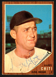 Harry Chiti Autographed 1962 Topps Card #253 Cleveland Indians SKU #149683