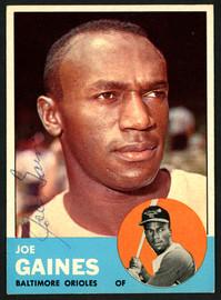 Joe Gaines Autographed 1963 Topps Card #319 Baltimore Orioles SKU #149808