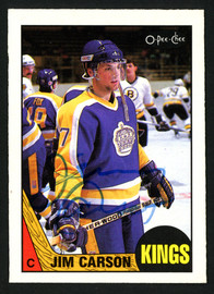 Jimmy Carson Autographed 1987-88 O-Pee-Chee Rookie Card #92 Los Angeles Kings SKU #149927