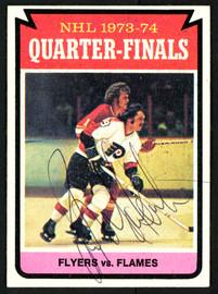 Rick MacLeish Autographed 1974-75 Topps Card #209 Philadelphia Flyers SKU #150096