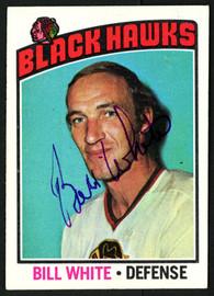 Bill White Autographed 1976-77 Topps Card #235 Chicago Blackhawks SKU #150197