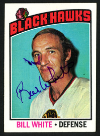 Bill White Autographed 1976-77 Topps Card #235 Chicago Blackhawks SKU #150198