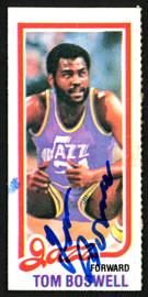 Tom Boswell Autographed 1980-81 Topps Card #238 Utah Jazz SKU #150254