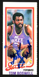 Tom Boswell Autographed 1980-81 Topps Card #238 Utah Jazz SKU #150255