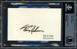 Randy Johnson Autographed 3x5 Index Card New York Yankees, Seattle Mariners Rookie Era Signature Beckett BAS #11319078