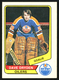 Dave Dryden Autographed 1976-77 WHA O-Pee-Chee Card #85 Edmonton Oilers SKU #151315