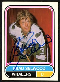 Brad Selwood Autographed 1975-76 WHA O-Pee-Chee Rookie Card #82 New England Whalers SKU #151325