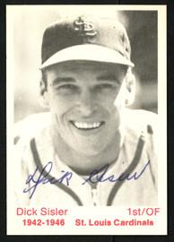 Dick Sisler Autographed 1975 TCMA Card St. Louis Cardinals SKU #151352