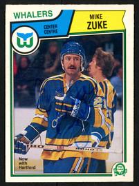 Mike Zuke Autographed 1983-84 O-Pee-Chee Card #322 Hartford Whalers SKU #151363