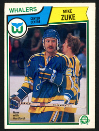 Mike Zuke Autographed 1983-84 O-Pee-Chee Card #322 Hartford Whalers SKU #151364