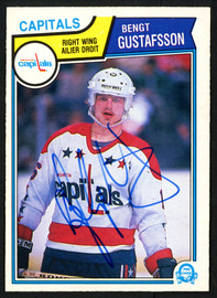 Bengt Gustafsson Autographed 1983-84 O-Pee-Chee Card #370 Washington Capitals SKU #151381