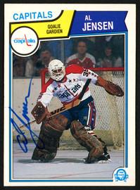 Al Jensen Autographed 1983-84 O-Pee-Chee Rookie Card #373 Washington Capitals SKU #151383