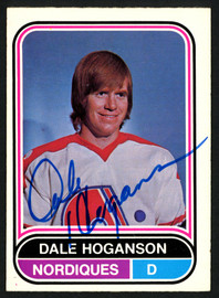 Dale Hoganson Autographed 1975-76 WHA O-Pee-Chee Card #2 Quebec Nordiques SKU #151388