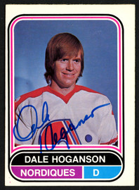 Dale Hoganson Autographed 1975-76 WHA O-Pee-Chee Card #2 Quebec Nordiques SKU #151389